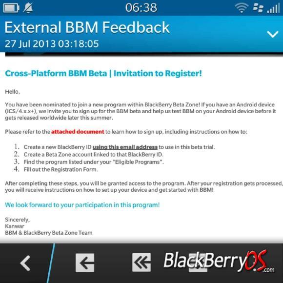 BBM beta invites