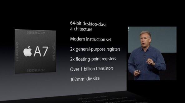 Apple September 2013 event (iPhone 5s, 64-bit slide 002)