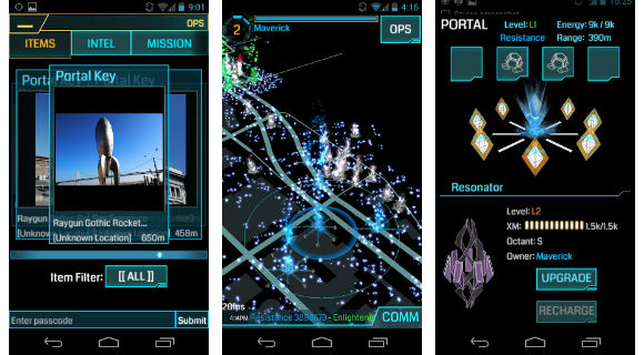 Ingress screen