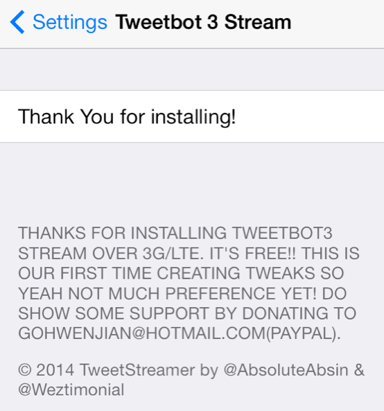 Tweetbot preferencias 3 Stream Reducido