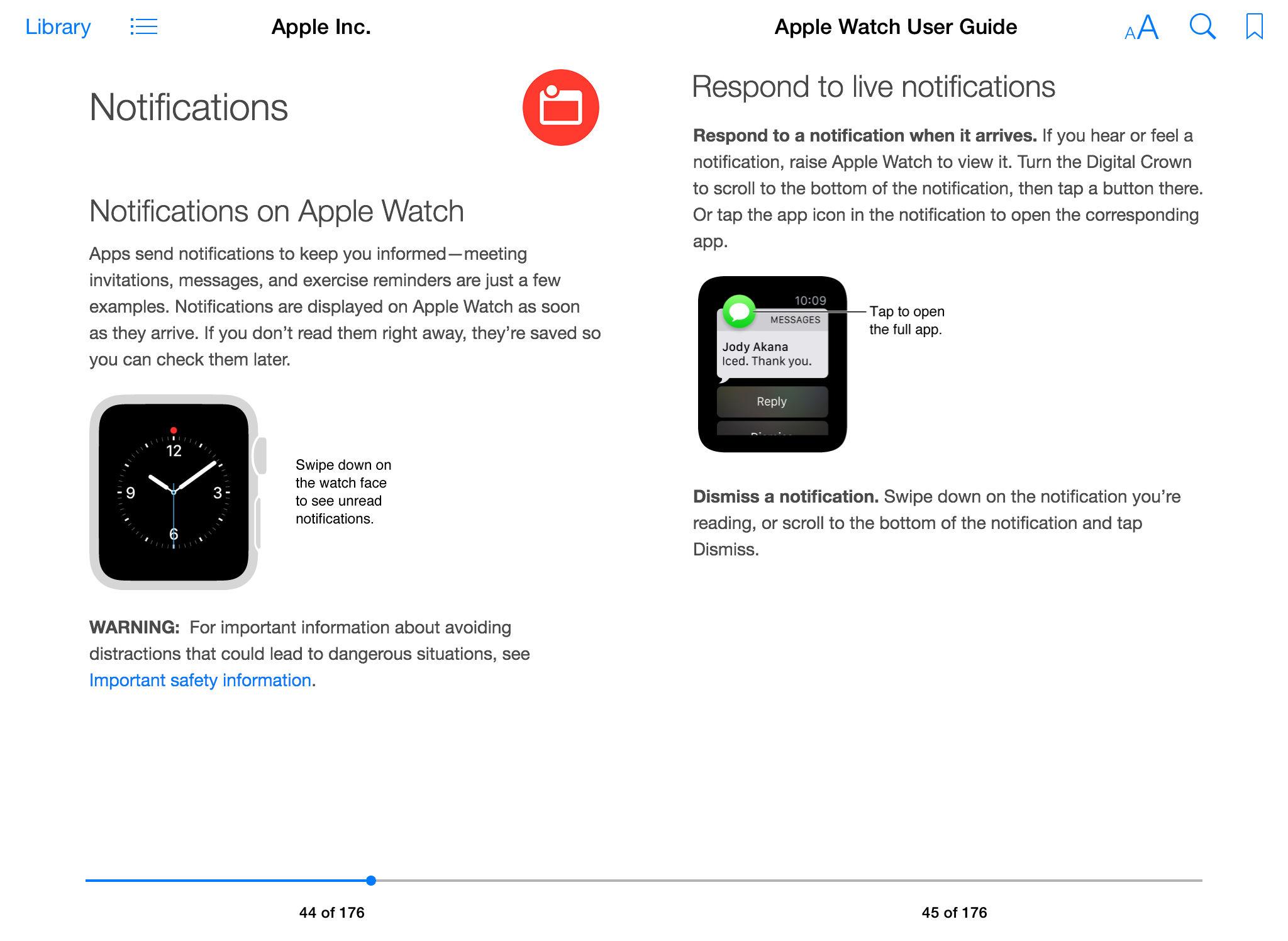 Apple Seguir Guía del usuario iBook pantalla 003