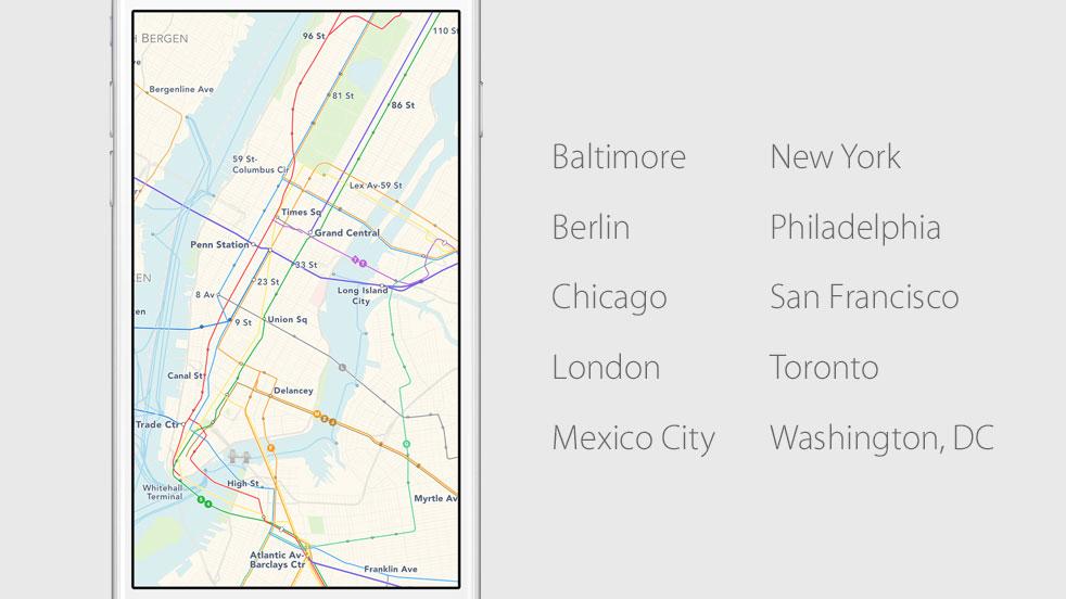 Maps cities launch transit