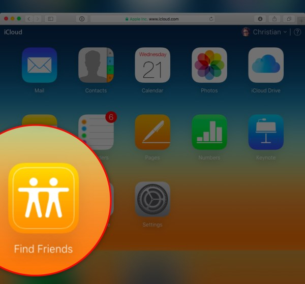 Find my Friends web app launches on iCloud.com
