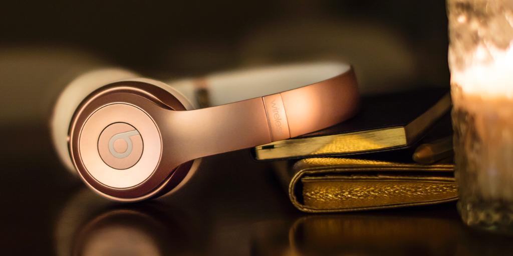 Iphone Gold Rose Headphones