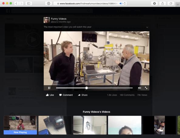 Facebook HTML5 video player web screenshot 001