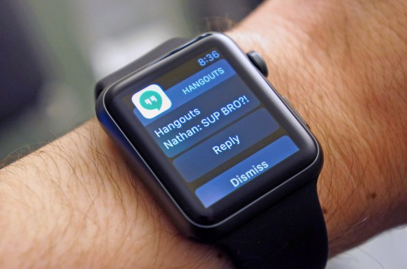 Hangouts for Apple Watch Engadget image 001