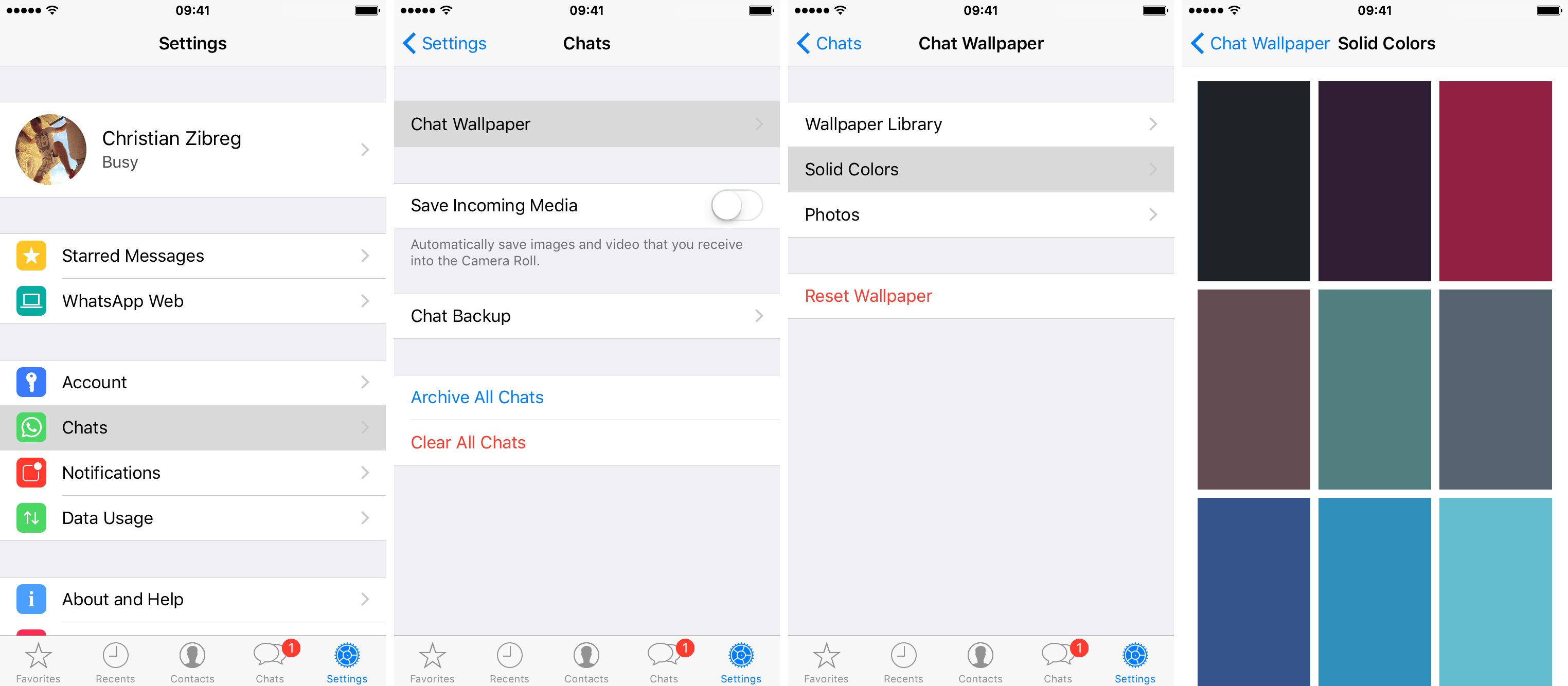 WhatsApp 2.12.14 for iOS iPhone screenshot 002