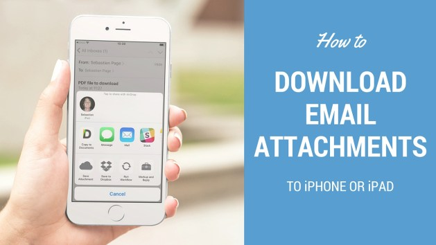 how to download email attachments