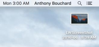OS X screenshot of lock screen on mac