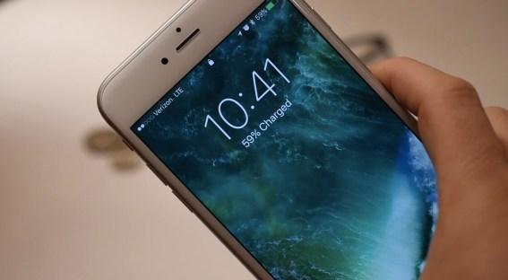 iOS 10 Khóa hình ảnh thanh trạng thái màn hình 001