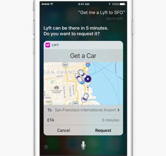 iOS 10 Hỗ trợ Siri cho bên thứ ba Apps