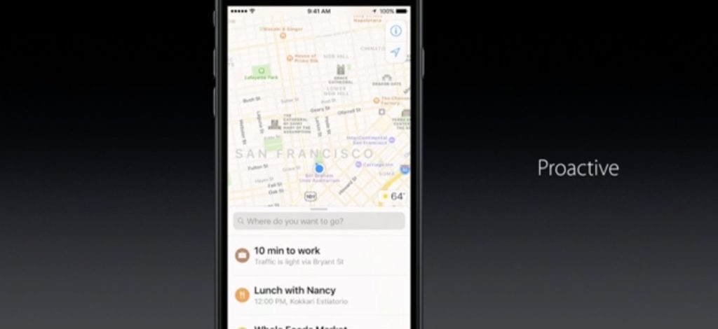 wwdc 2016 ios 10 maps proactive