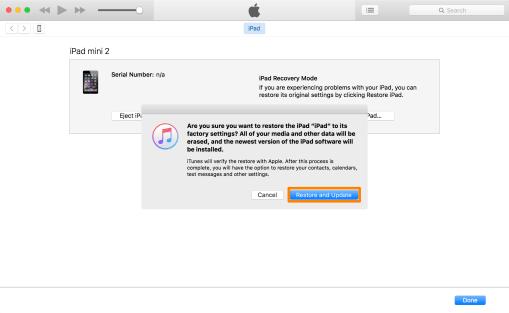 iTunes Restore và Update