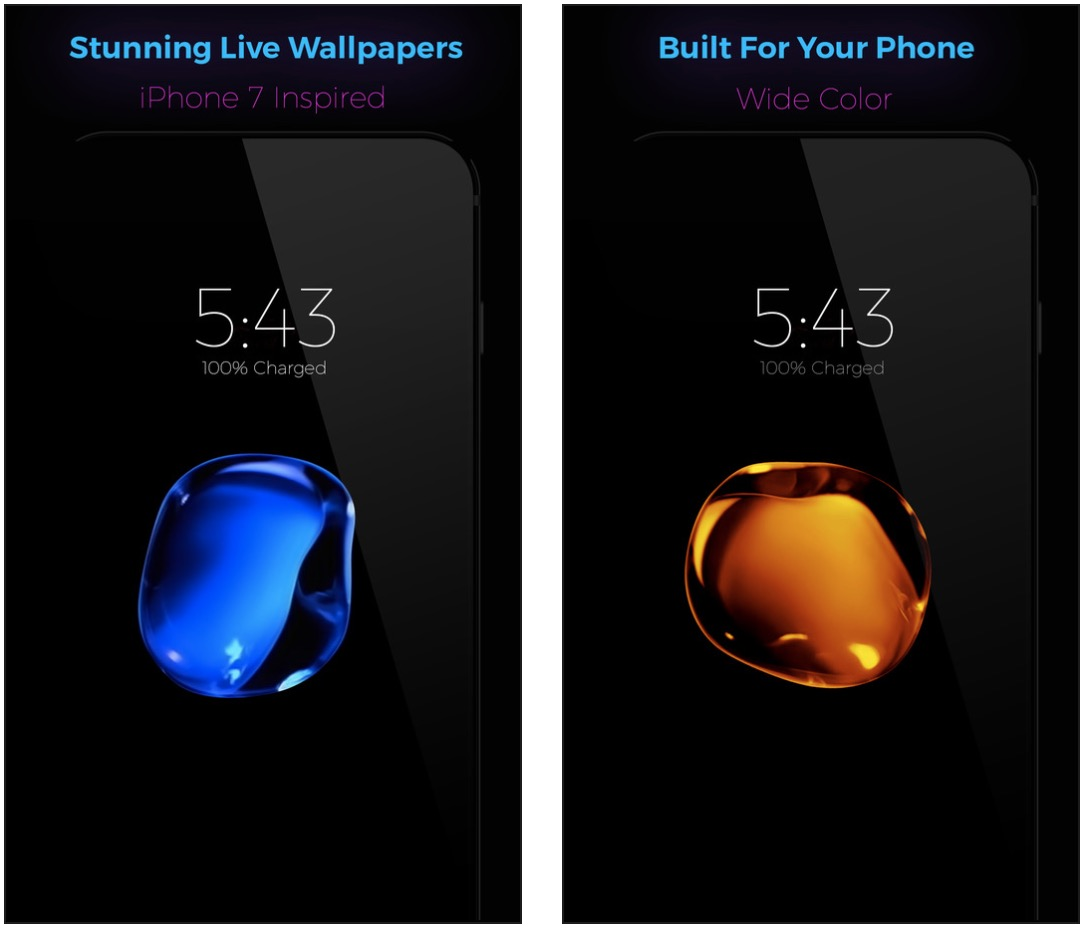 blurb droplet wallpapers
