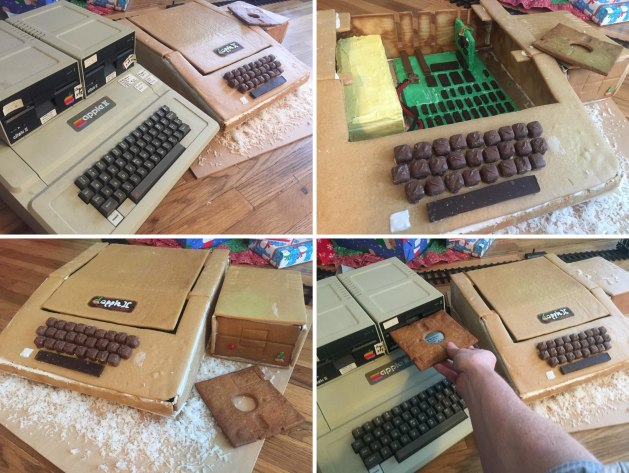 Apple II made from gingerbread