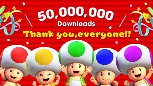 Super Mario Run 50 million downloads teaser 001