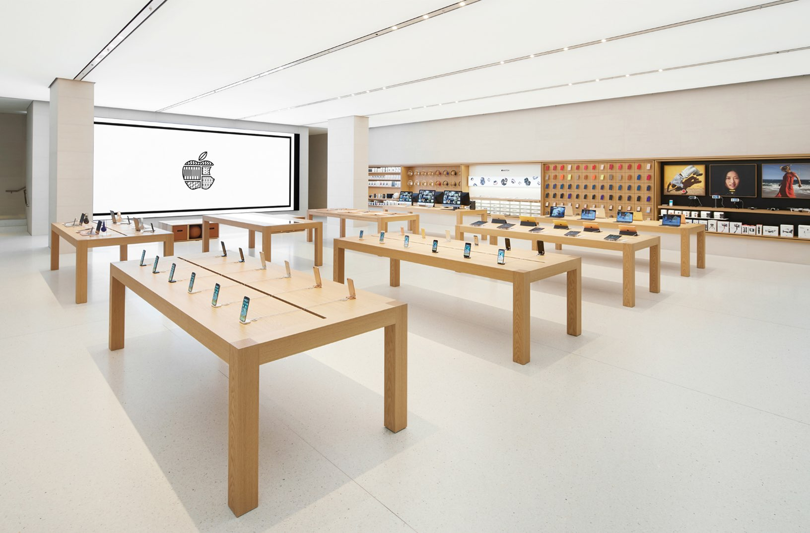 Apple shows off its gorgeous new Vienna store ahead of grand opening         next generation retail design with    Today at Apple    sessions  Genius  Bar support and other creative services offered in Apple Stores around the  world