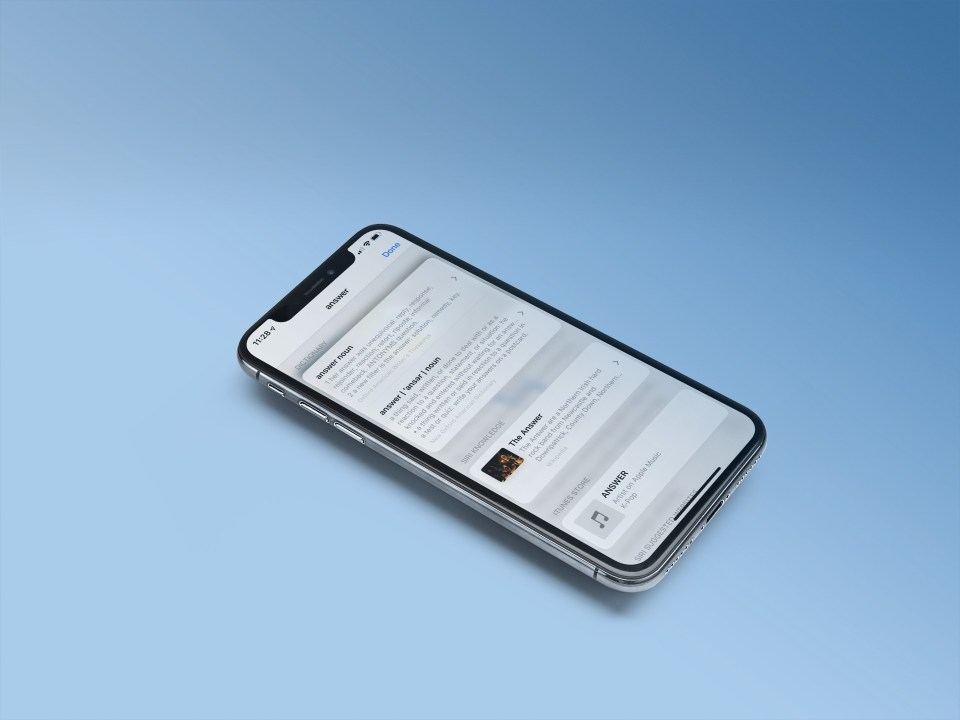 iOS thesaurus