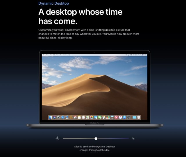 Dynamic Desktop In Macos Mojave Brings A Time Shifting Picture To Your Desktop That Changes