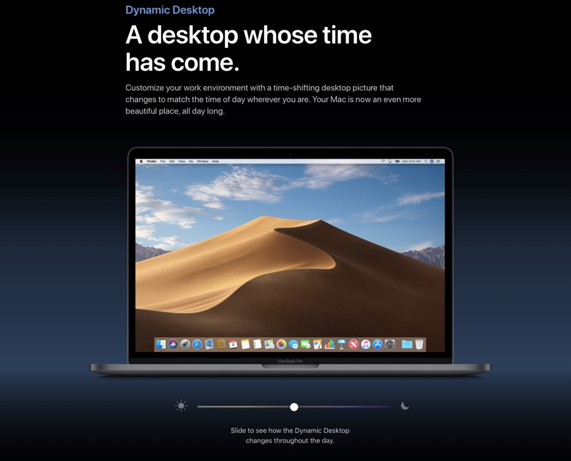 Macos Mojave Sports A Time Shifting Wallpaper That Changes Through The Day