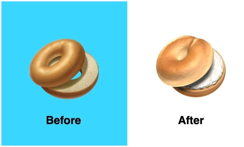 bagel emoji iOS 12.1 beta 4