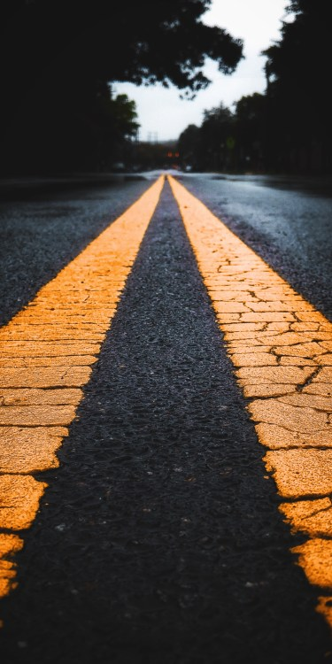 street pavement yellow line JFL 5 iphone wallpaper