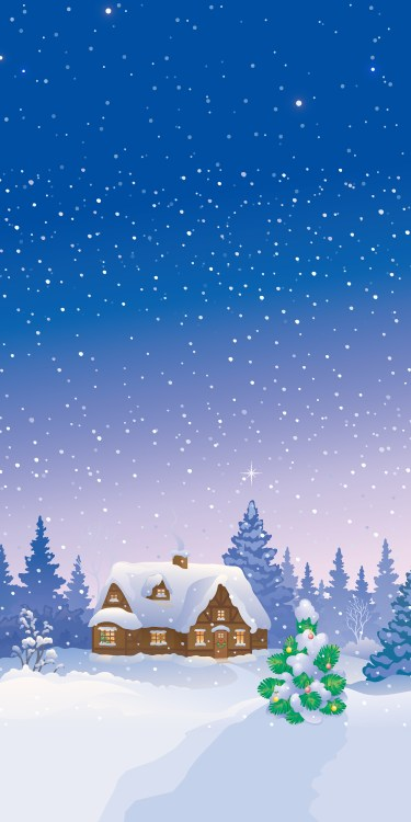 mountain house hut wallpaper