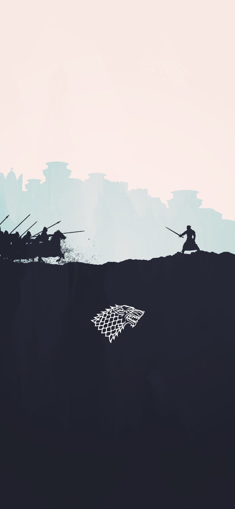 jon-snow-minimalism- iPhone game of thrones wallpaper