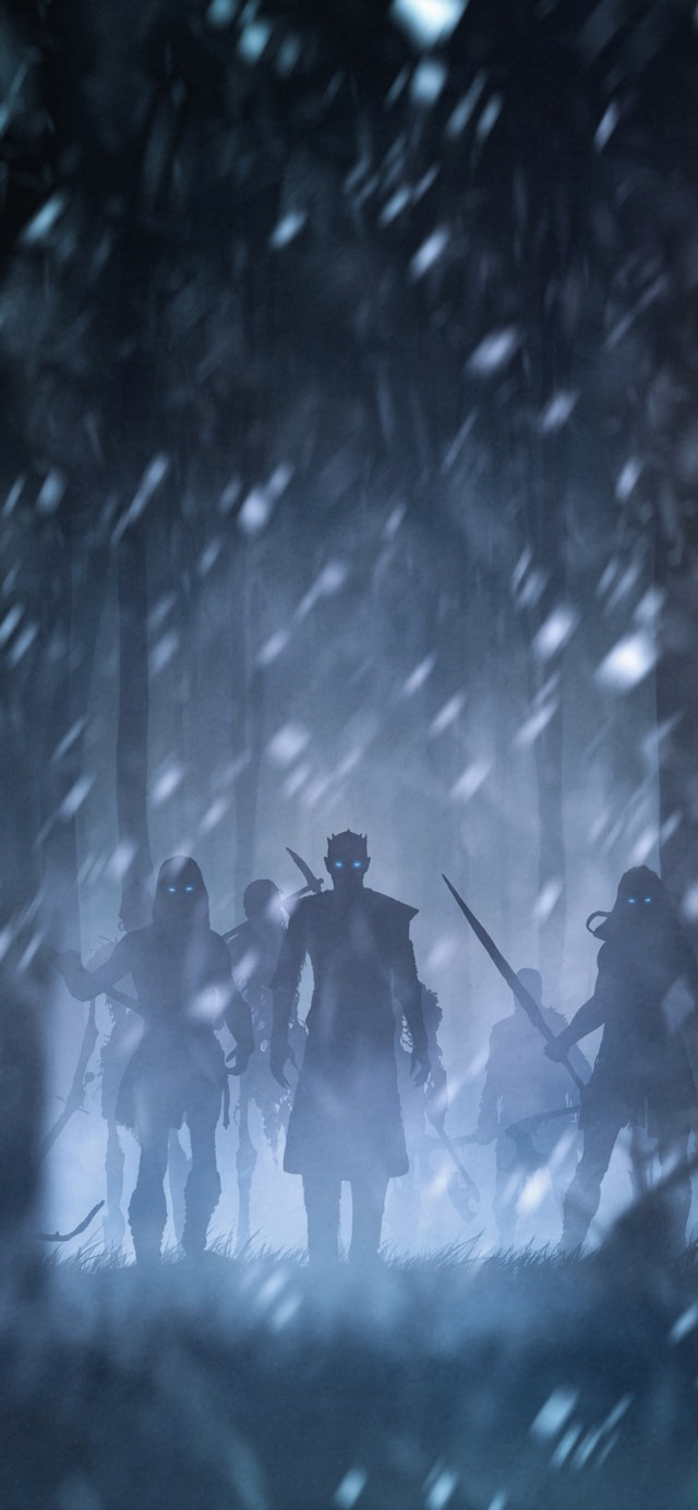 night-king-with-white-walkers-artwork iPhone game of thrones wallpaper