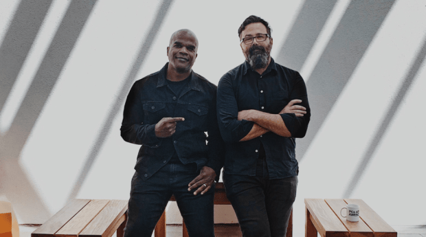 Geoff Edwards and Chuck Monn of TBWA/Media Art Labs