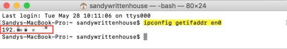 Mac IP Address in Terminal Command