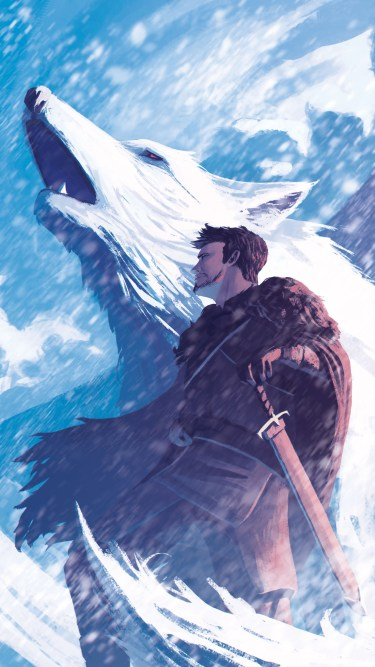 jon-snow-and-his-wolf-an-2160x3840