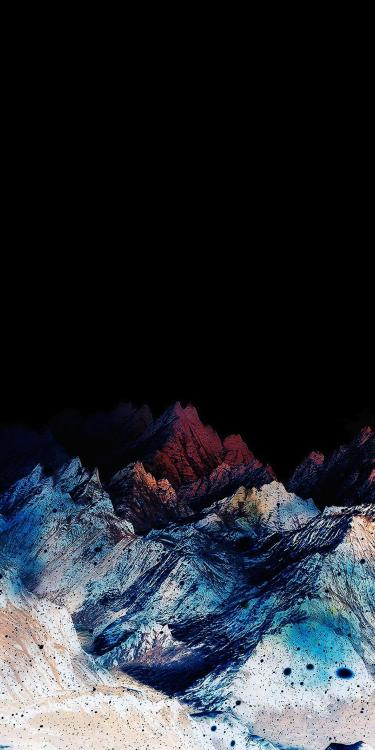 OLED wallpaper idownloadblog colorful mountain