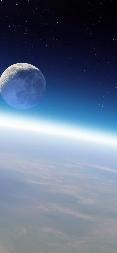 earth moon orbit iphone wallpaper