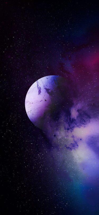 Nebula Space Fantasy iPhone Wallpaper iPhone 11 Pro Max iDownloadBlog AR72014 Purple Planet scaled
