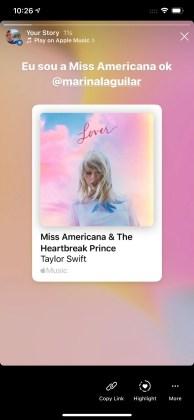 Chia sẻ bài hát Apple Music Câu chuyện trên Instagram Câu chuyện trên Facebook