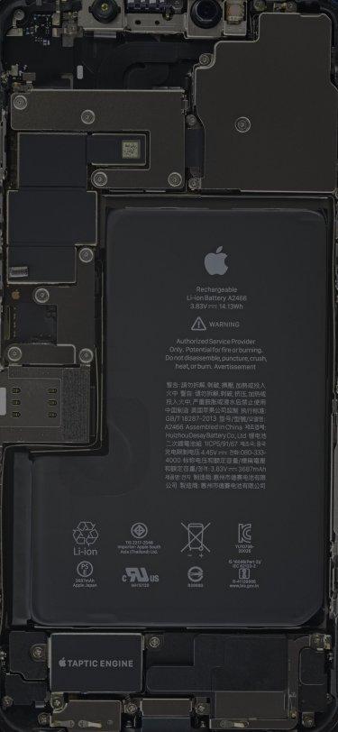 iPhone 12 Pro Max Internals Wallpaper ifixit idownloadblog
