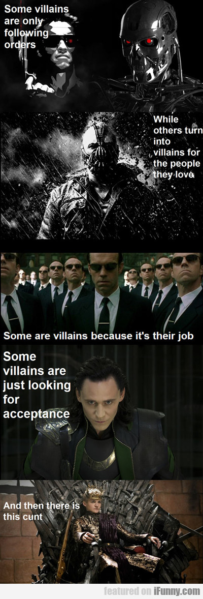 Some Villains Are Only Following Orders...