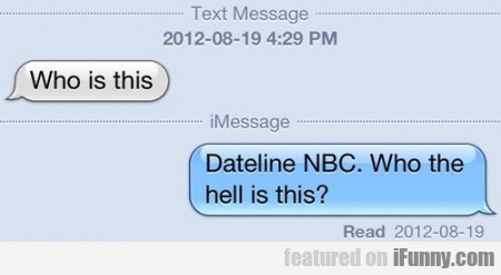 Who Is This? Dateline Nbc