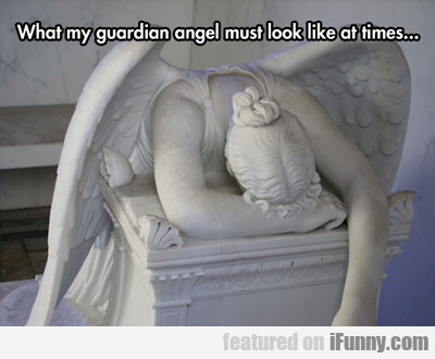 What My Guardian Angel Must Look Like At Times...
