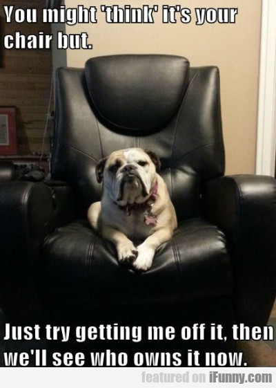 You Might 'think' It's Your Chair But..