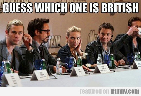 Guess Which One Is British...