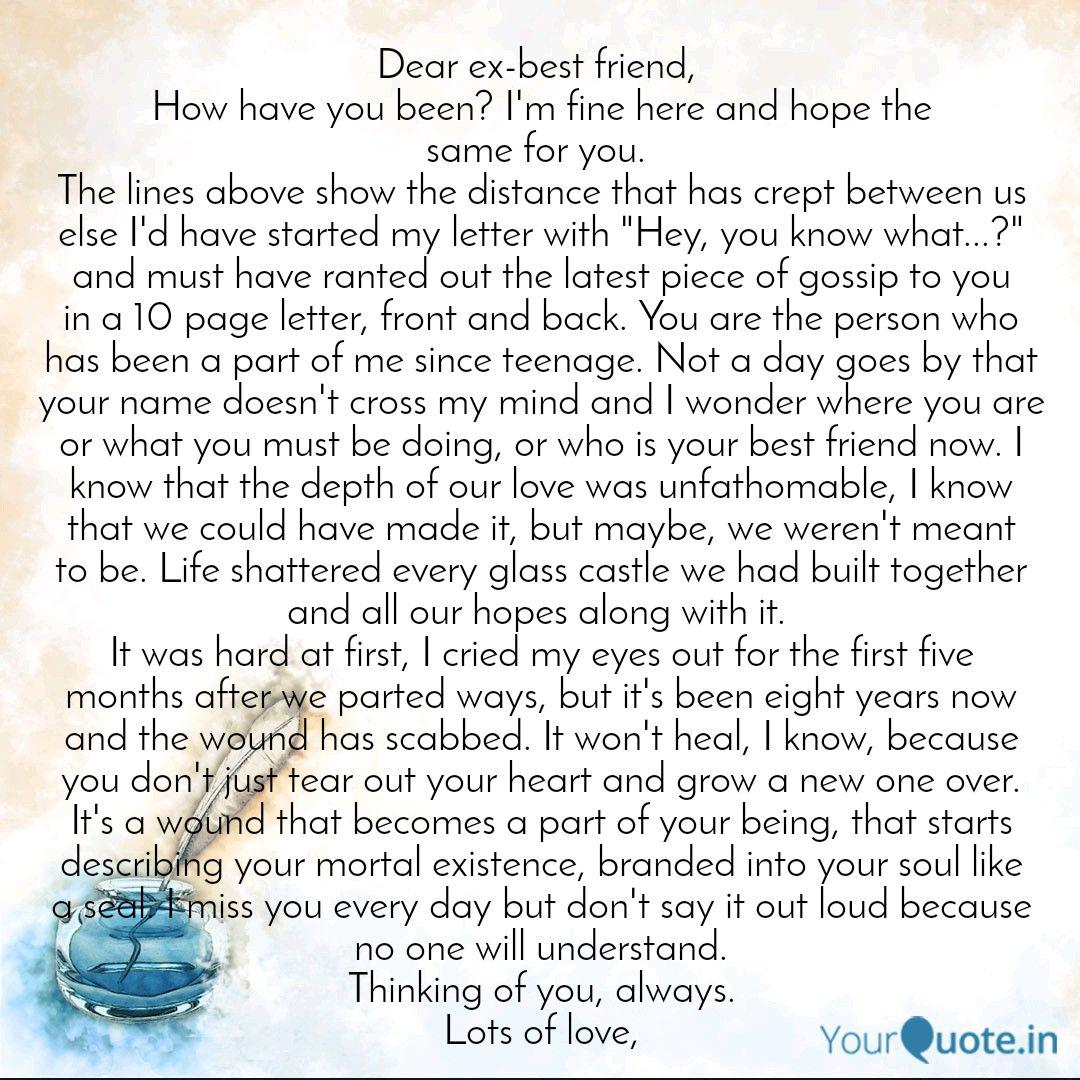 Dear My Friend Letter