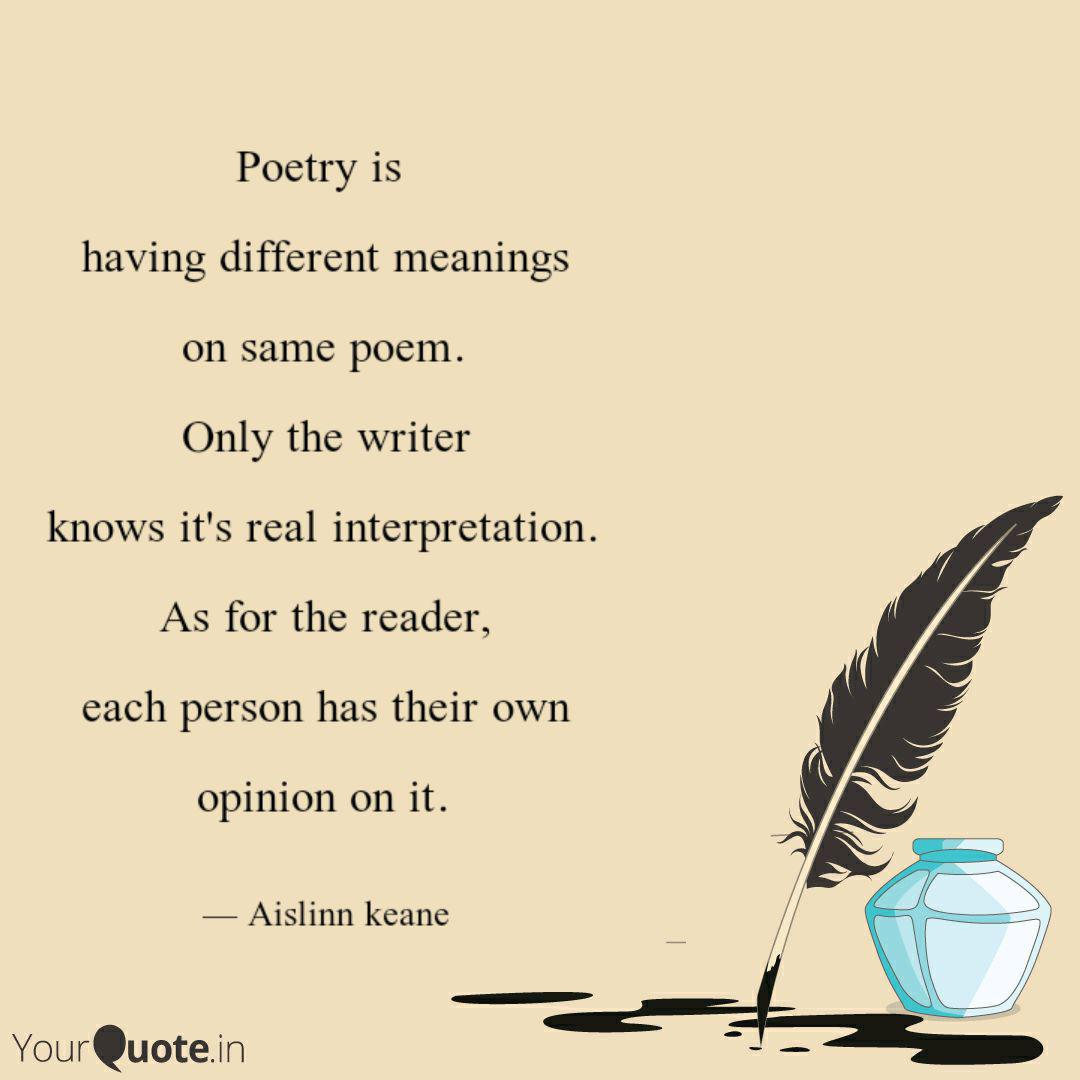 Poems That Have Two Meanings