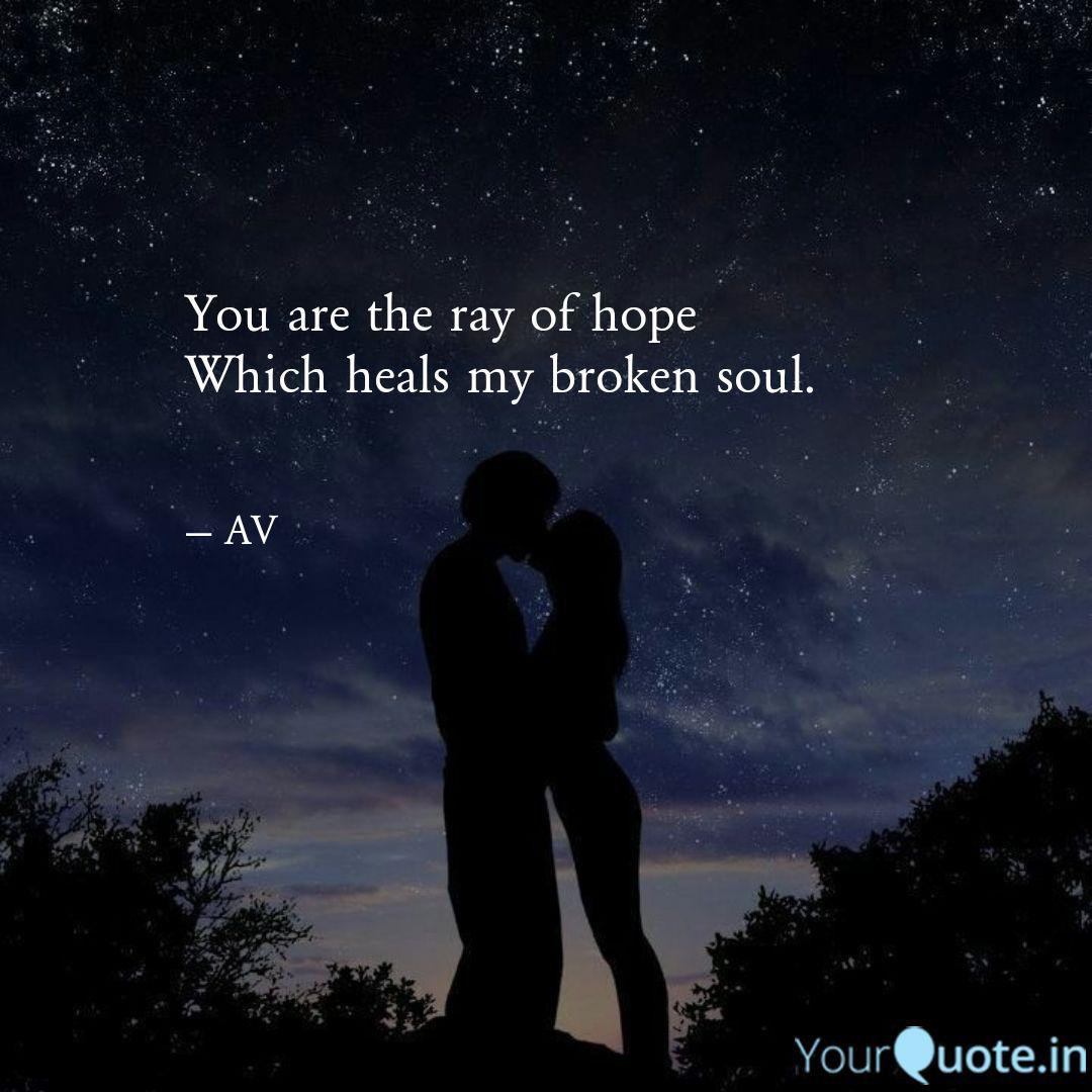 You Are The Ray Of Hope W Quotes Writings By Abinesh Vel Yourquote