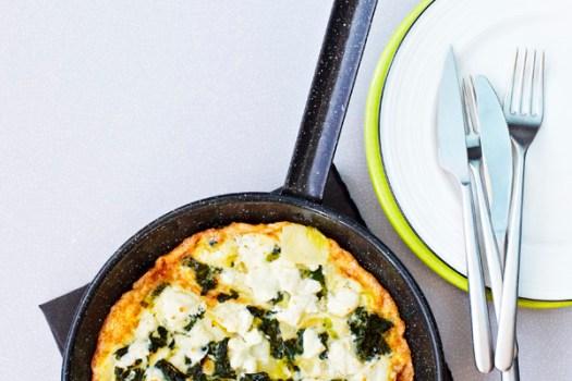 Kale and feta tortilla recipe