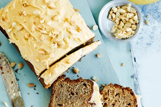 Banana Bread with Peanut Butter Frosting