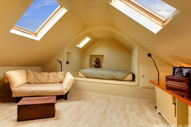 Attic Bedroom and Office