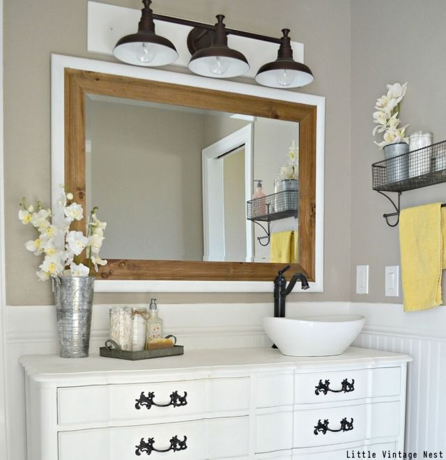 Vintage Bathroom Vanity And Mirror