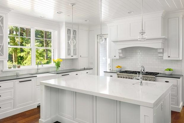 Image result for all white kitchen